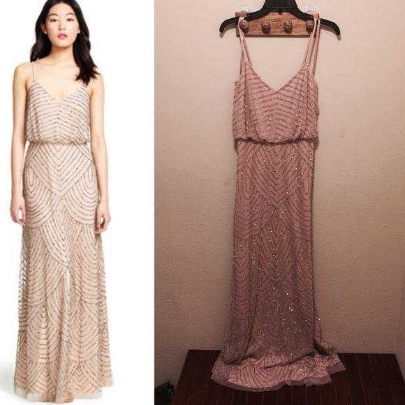 Adrianna Papell Dresses | Art Deco Beaded Gown | Poshmark