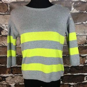 Gap Gray Yellow Sweater