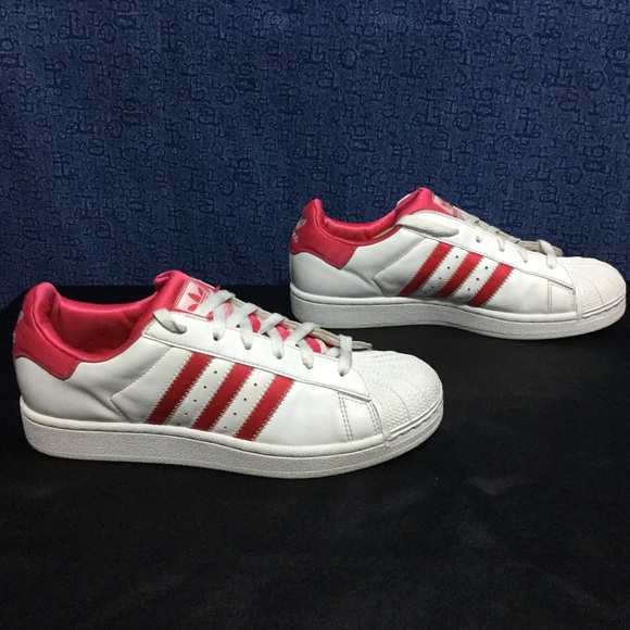 46 off adidas shoes adidas superstar pink satin on white 40 8 from stella 39 s closet on poshmark. Black Bedroom Furniture Sets. Home Design Ideas