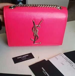 Yves Saint Laurent Handbags - Saint laurent monogramme crossbody bag in pink