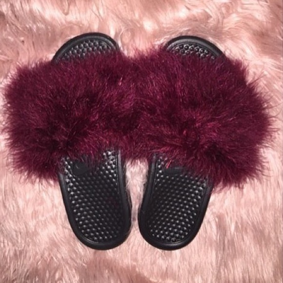 Brand New Pink Fur Shoes Shop Now