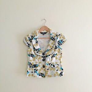 Floral Butterfly Collar Jacket / Blazer