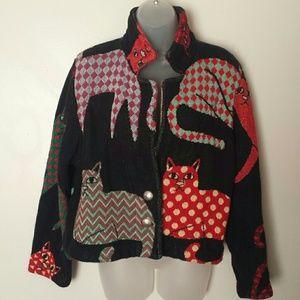 Orvis Jackets & Blazers - 'ORVIS' Cat lover cardigan/Jacket sweater