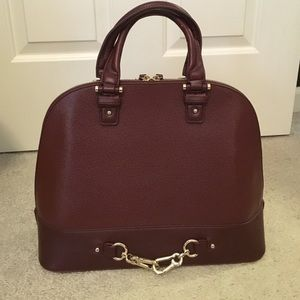 JustFab Burgundy Dome Satchel Bag