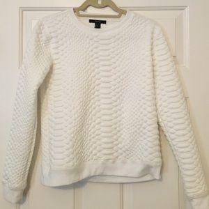 Forever 21 Croc Textured Sweatshirt Small