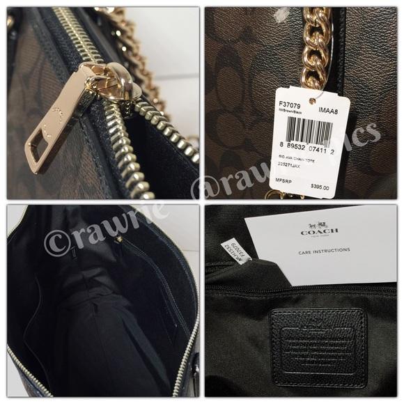 bf83b966d3 ... Coach Bags - New Coach ava signature gold chain tote ...