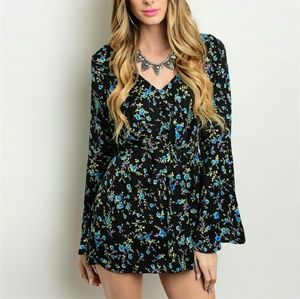 Other - Black Floral Romper SALE