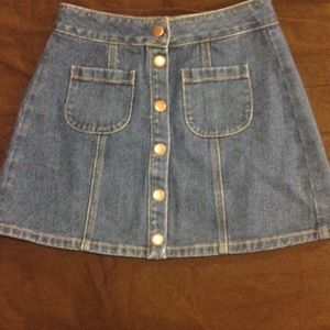 5b2066c665 Brandy Melville Skirts | Button Front Denim Skirt | Poshmark