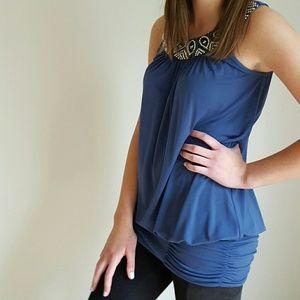 Jodi Kristopher Dresses & Skirts - {Jodi Kristopher} Beaded Sleeveless Mini Dress/Top