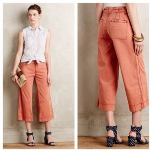 Anthro Hei Hei cropped wide legged pants
