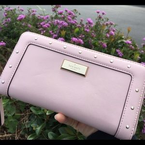 kate spade Handbags - Kate Spade♠️long leather wallet ️Pink/studded