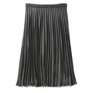Joe Fresh Metallic Pleated Midi Skirt Size 2