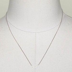 Eliot Danori Jewelry - Eliot Danori 1/2 Moon Pave Crystals Layer Y34