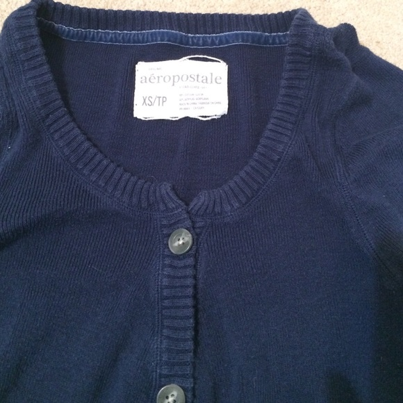 Aeropostale - Aeropostale navy blue sweater button up XS 0 2 from ...