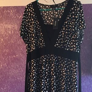 Polka Dot tie back dress