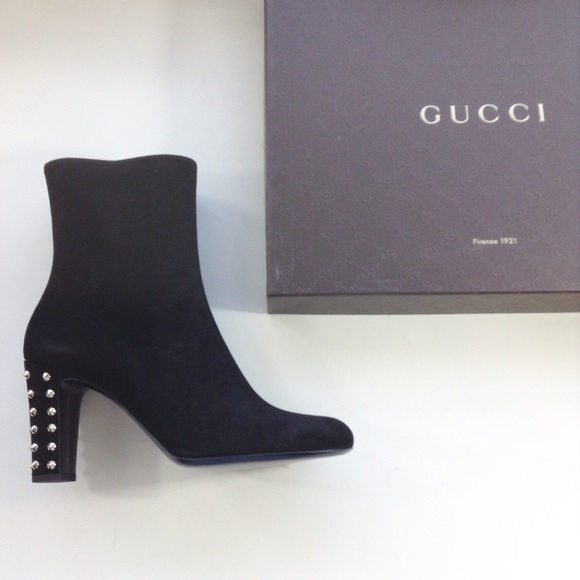 20 gucci shoes new gucci studded suede black