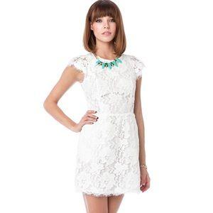 Dresses & Skirts - SALE ❗️White Lace Cap Sleeve Open Back Dress