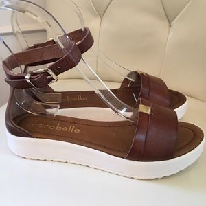Cocobelle Shoes - Cocobelle Taupe Brown Wedge