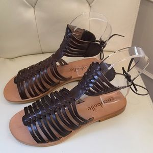 Cocobelle Shoes - LAST PAIR!! Cocobelle Iris Smoke Brown Gladiator