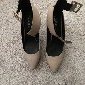 ALDO ankle strap pointy toe pumps