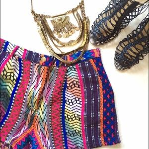 Colorful tribal shorts