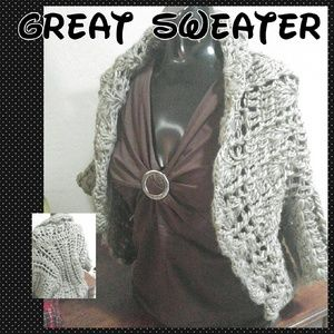 Gorgeous Loose Weave Knitted Sweater