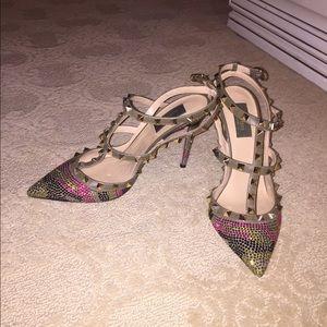 fefd703dfcf Valentino Shoes - Valentino crystal rockstud heels