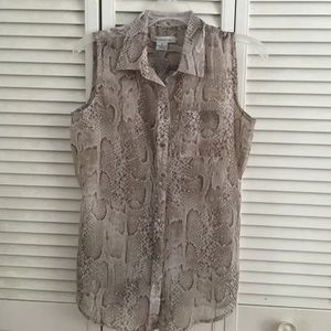 NWOT Liz Claiborne Sheer Sleeveless Top
