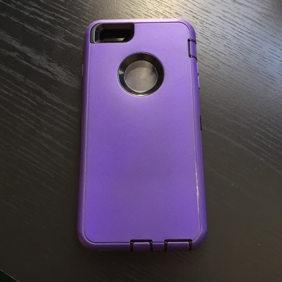 brand new 9be65 61753 iPhone 6 Plus Purple and black Otterbox