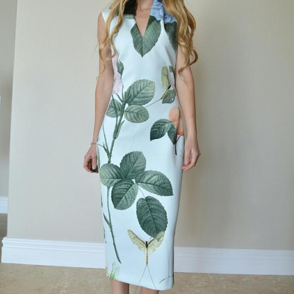 be18d1353 Ted Baker Ravina Distinguishing Rose Midi Dress 2
