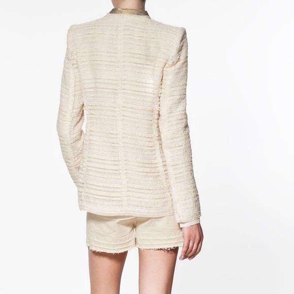 Zara - NWOT Rare Zara Fantasy Boucle Cream Tweed Blazer from Ana's ...