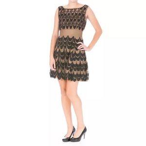 Catherine Malandrino Dresses & Skirts - CATHERINE MALANDRINO Brown Tulle Embroidered