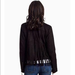 Jackets & Coats - Black Suede Fringe Jacket!