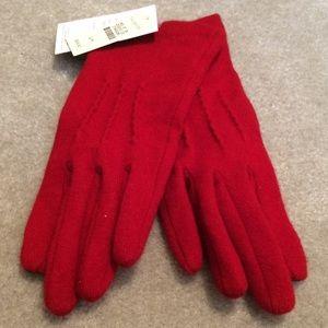 Talbots Accessories - Talbots Red Wool Gloves