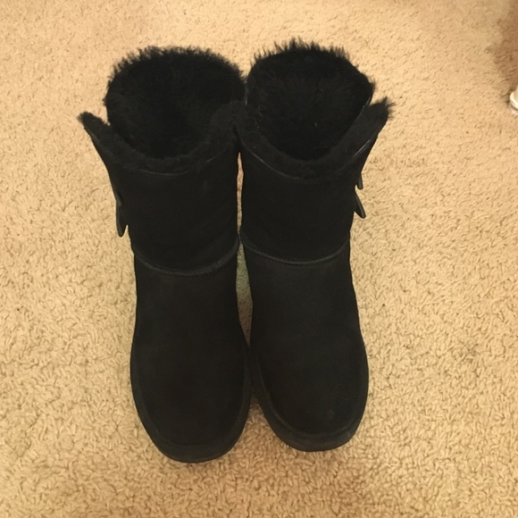 Black Bearpaw Boots With Buttons   Poshmark