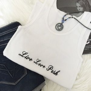Tops - Live Love Posh™ Embroidered Tank Top. Price firm.