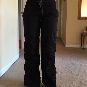 Black lulu studio pants - not lined size 4