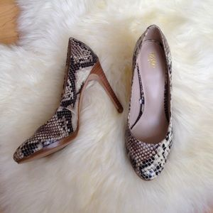 Mossimo Supply Co. Shoes - Faux Snakeskin Heels, Sz 6.5