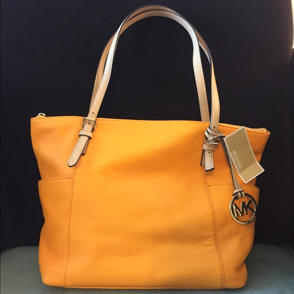 9db2c59fb076 MICHAEL Michael Kors Bags | Michael Kors Vintage Yellow Leather Tote ...