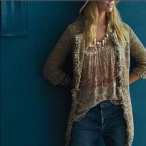 Anthropologie sparrow fringe sweater