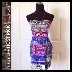 {STS Blue} Purple Strapless Top