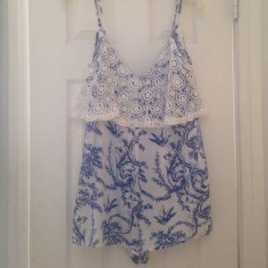 b20cd987cb97 Millau Pants - LF Millau blue lace romper