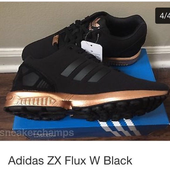 style mody renomowana strona sportowa odzież sportowa all black adidas zx flux with gold bottom Sale | Up to OFF72 ...