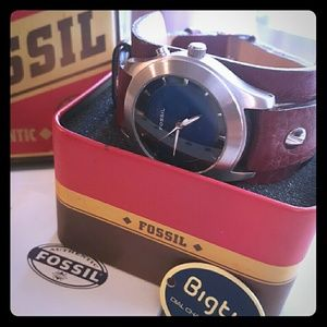 FOSSIL WIDE BAND WATCH