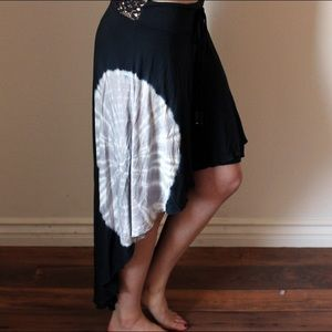 Michelle Jonas Black High-Low Skirt
