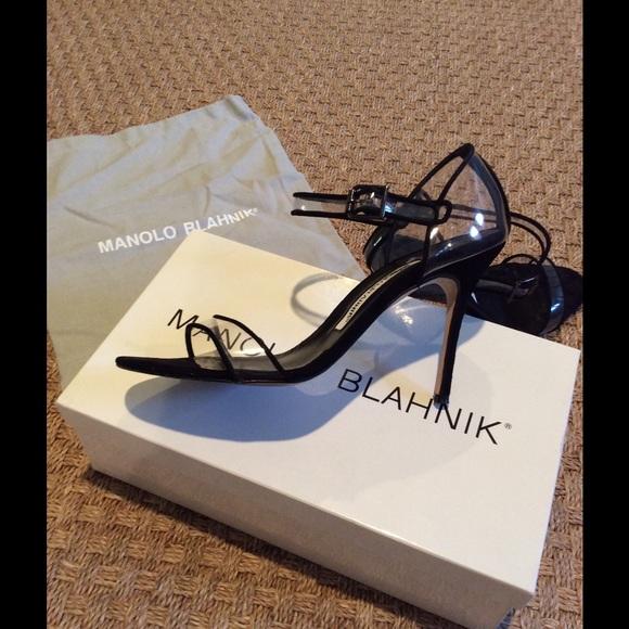 77772f605a Manolo Blahnik Black & Clear Sandal. M_56d24bbefbf6f997310106f4