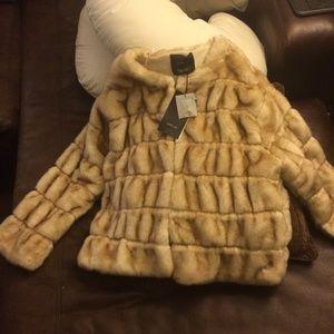 Zara faux fur kint jacket
