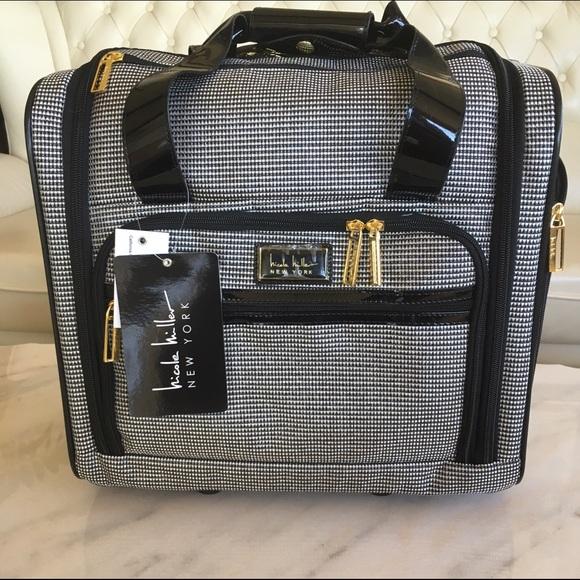 856f674b56f1 Nichole Miller NY Luggage Wheeled Under Seat Bag