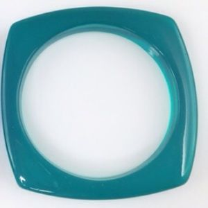 Adia Kibur Jewelry - Adia Kibur teal translucent bangle bracelet-NWT!