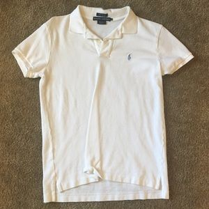 White Polo RL short sleeve classic fit blue pony